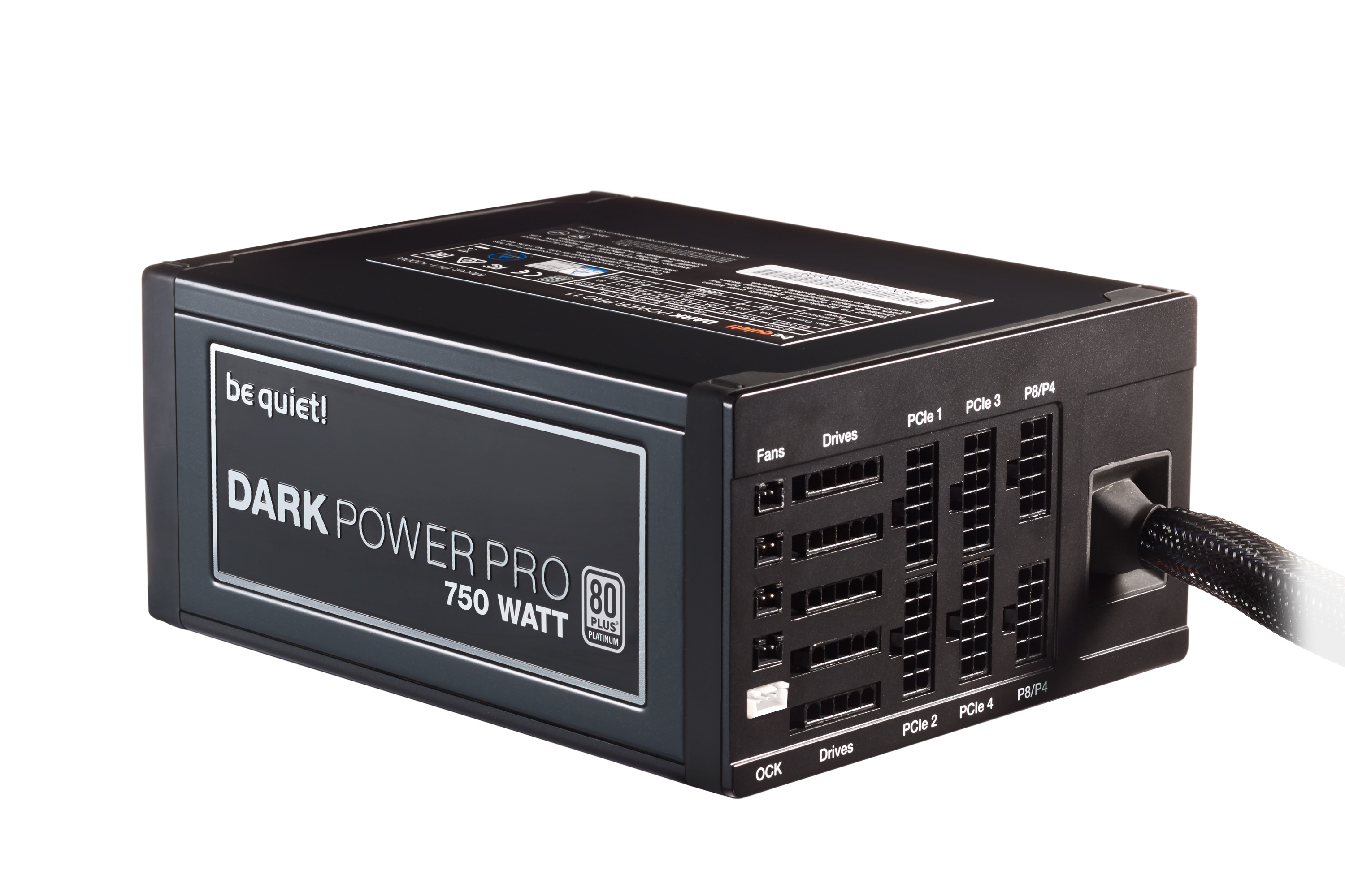 be quiet! Dark Power Pro 11 750W, 80+ Platinum, ErP, Energy Star 6.1 APFC, Sleeved, 6+1xPCI-Ex, 8xSATA, 7xPATA, Full Cable Management, Switchable 4 or 1 Rail, Silent Wings 3 135