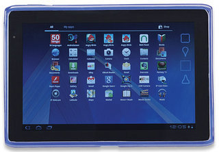 Manhattan Acer Iconia A500 Slip-Fit Sleeve adds color, style and protection, blue