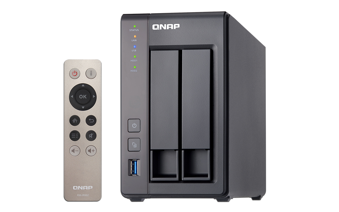 QNAP TS-251+-2G Intel Celeron 2.0GHz Quad Core (up to 2.42GHz) Adapter 2 bay