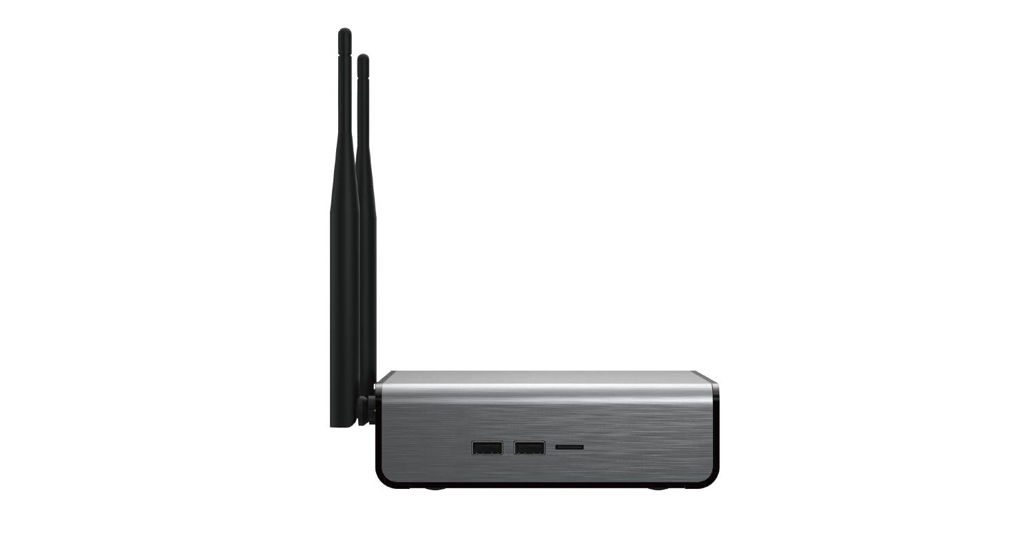Epsilon Mini-PC Essential , Systeem met: Intel N3450, 4 GB, 120 GB SSD, WiFi, Windows 10 Pro