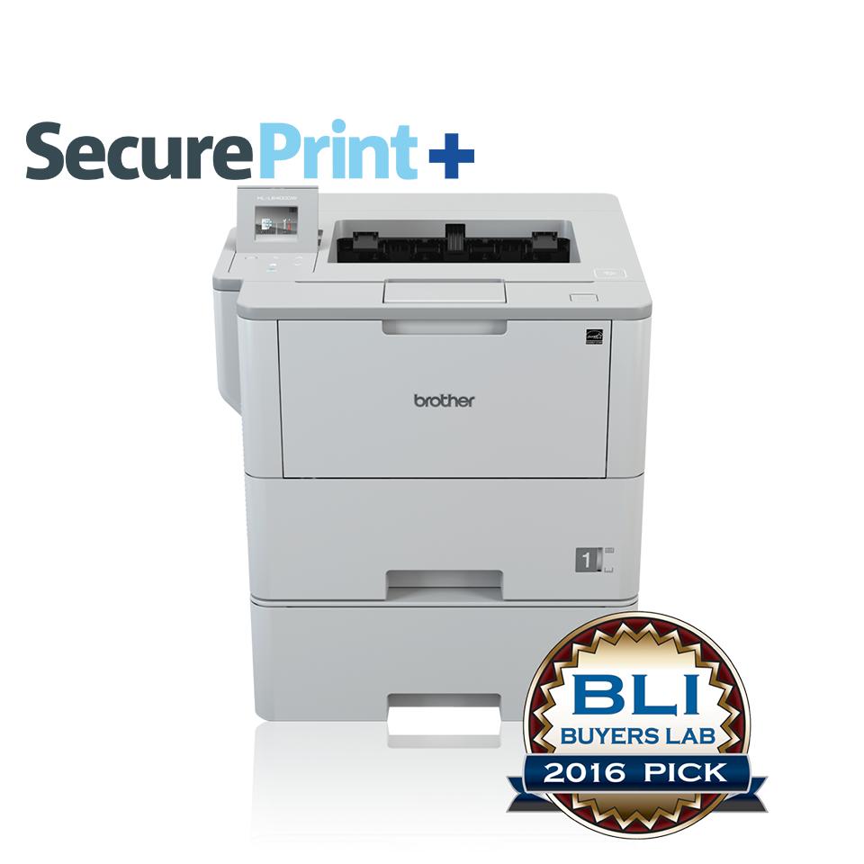 Brother HL-L64000DWT met als extra SecurePrint+ om documenten veilig af te drukken via NFC ID-kaart of PIN-code incl. 5 NFC ID-kaarten