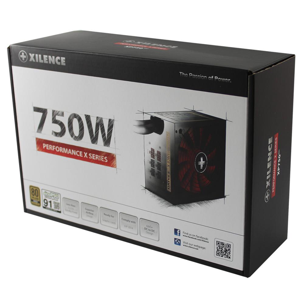 XILENCE Performance X, 750 Watt, 80+ Gold, Modular, Erp2014, EcoPSU, 135 mm FDB Fan, OVP/UVP/OCP/OTP/SCP/OLP, ActivePFC, XP750MR9