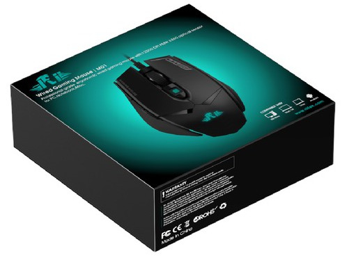 Rii RT618 (MO1) Programmable Gaming Mouse with 12000 DPI & RGB LED (PMW3360 MCU / Omron switches)