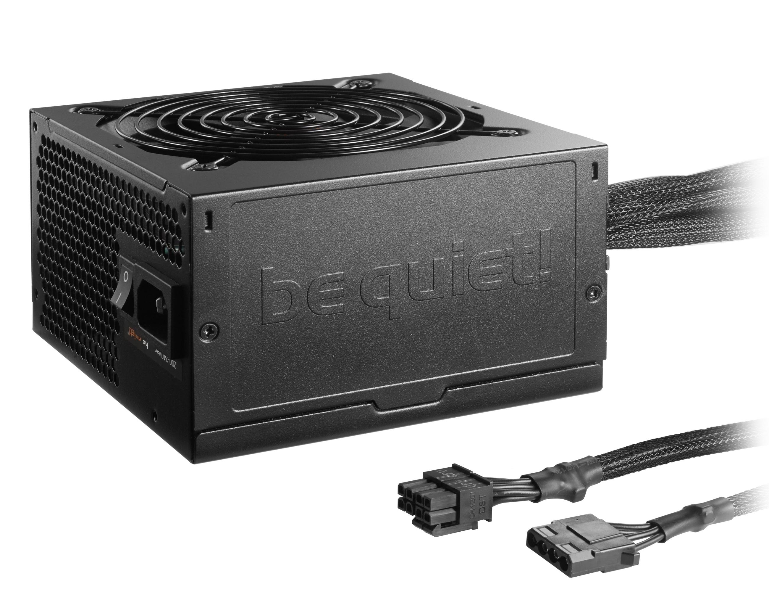 be quiet! System Power B9 600W, 80+ Bronze, ErP, Energy Star 6.1 APFC, Sleeved, 2xPCI-Ex, 6xSATA, 2xPATA, DC-DC , Black// SB9-600W, bulk, 10 per doos