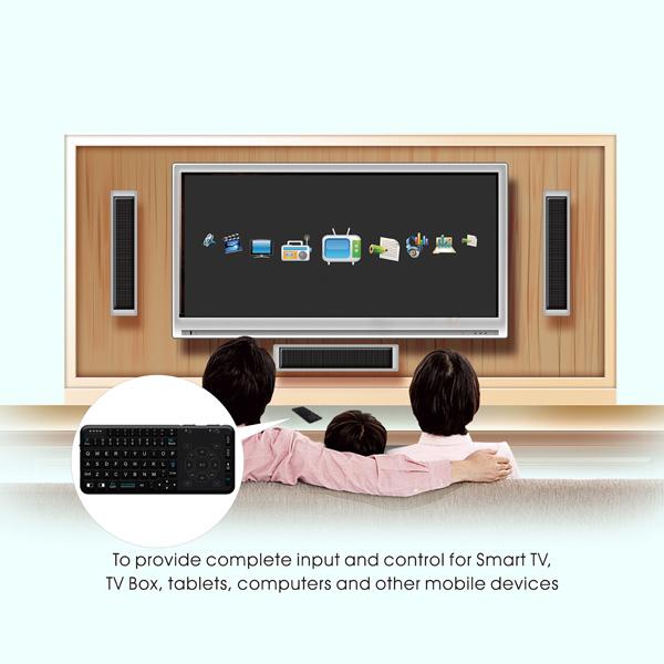 Rii mini i15 Air mouse keyboard, 2.4G USB-dongle en kabel inbegrepen