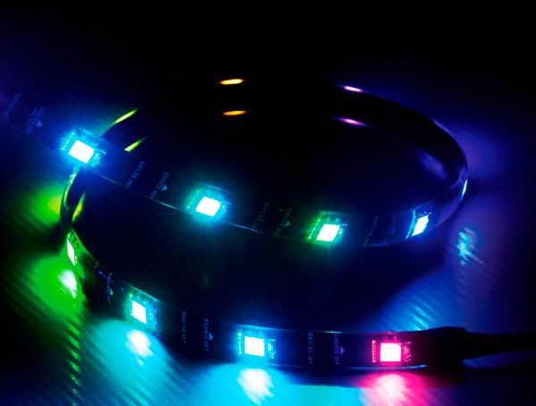 Akasa Vegas MBA Magnetic ADDRESSABLE RGB LED strip light , (ASUS Aura, Gigabyte Fusion Cert.)