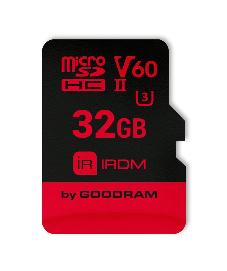GOODRAM IRDM MicroSD (SecureDigital) 32GB SDHC, Class 10, UHS-II U3, V60 + adapter