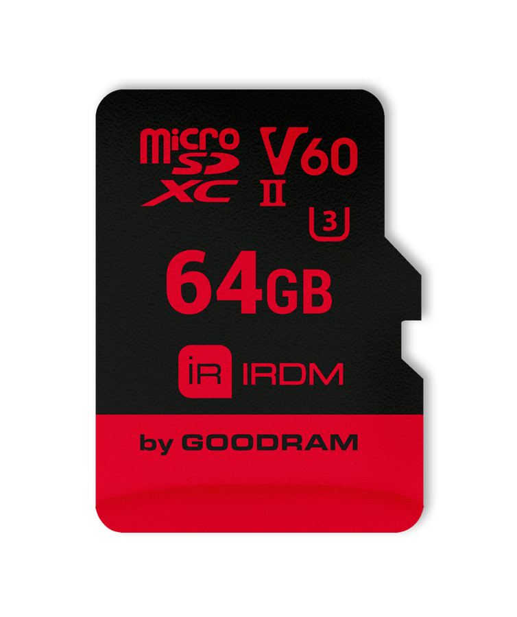 GOODRAM IRDM MicroSD (SecureDigital) 64GB SDXC, Class 10, UHS-II U3, V60 + adapter