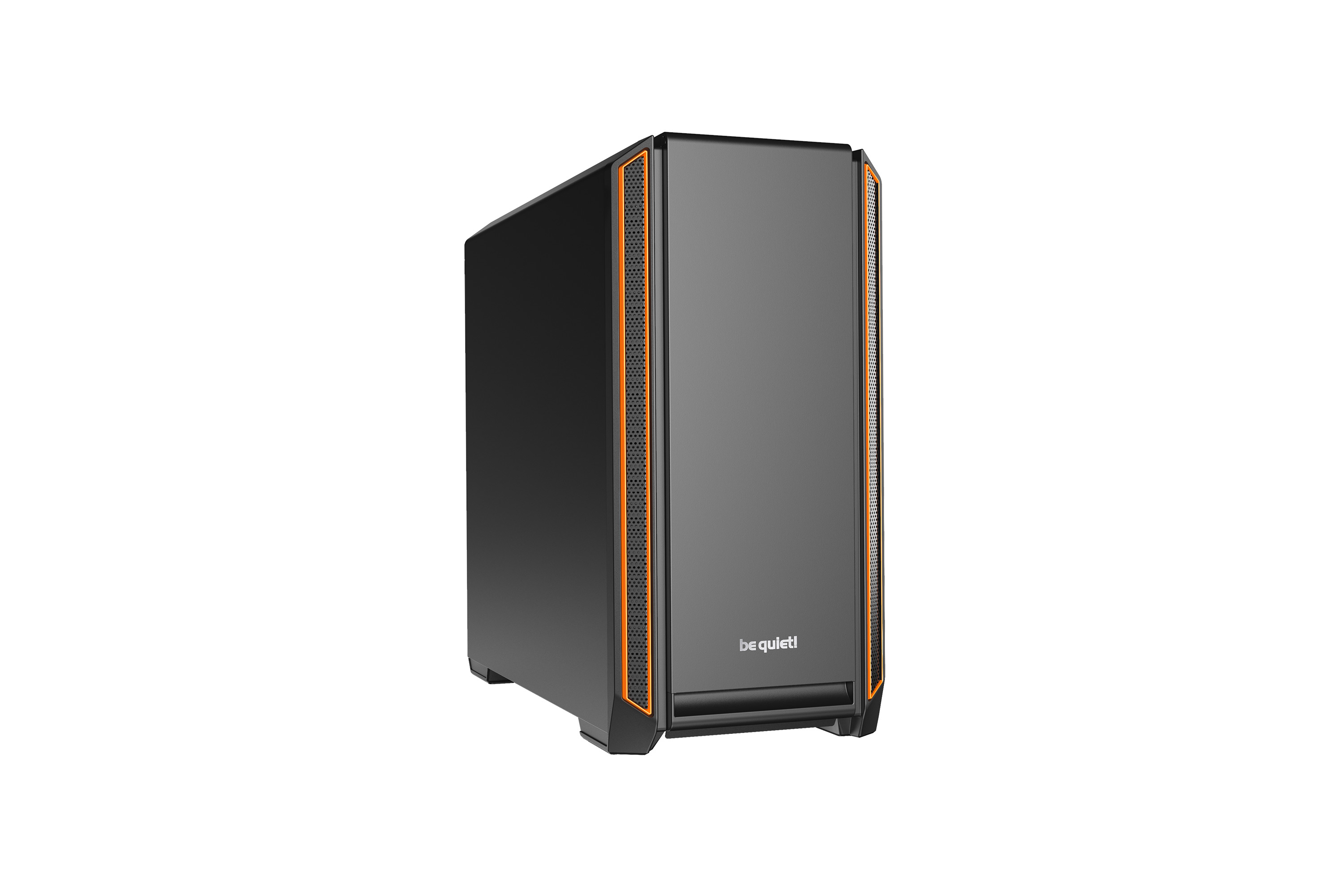 be quiet! Silent Base 601 Orange, 532 x 230 x 513, IO-panel 2x USB 3.0, 1x USB 2.0, HD Audio, 3 (7) x 3,5, 6 (14) x 2,5, inc 2x 140 mm Pure Wings 2, dual air channel cooling, 3-in-1 airintake sidepanel