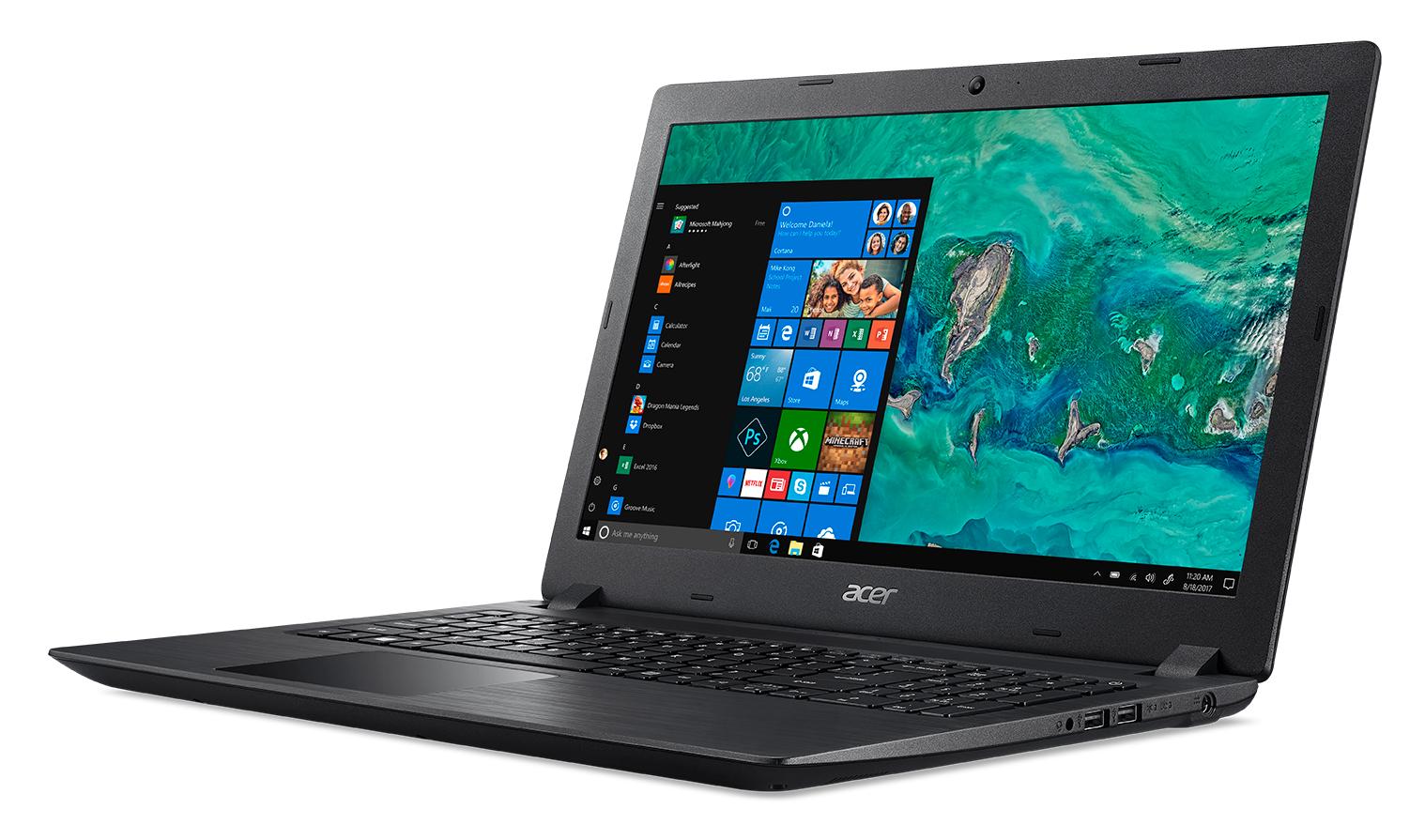 Acer Aspire 3 A315-32-C4Q2, Black, 15.6 inch FHD, Celeron N4000 , 4GB DDR4, 256GB SSD, UHD Graphics 600, HDMI, No ODD, Wi-Fi 5 AC + BT 4.0, 2-cell battery, 0.3MP webcam Win 10 Home
