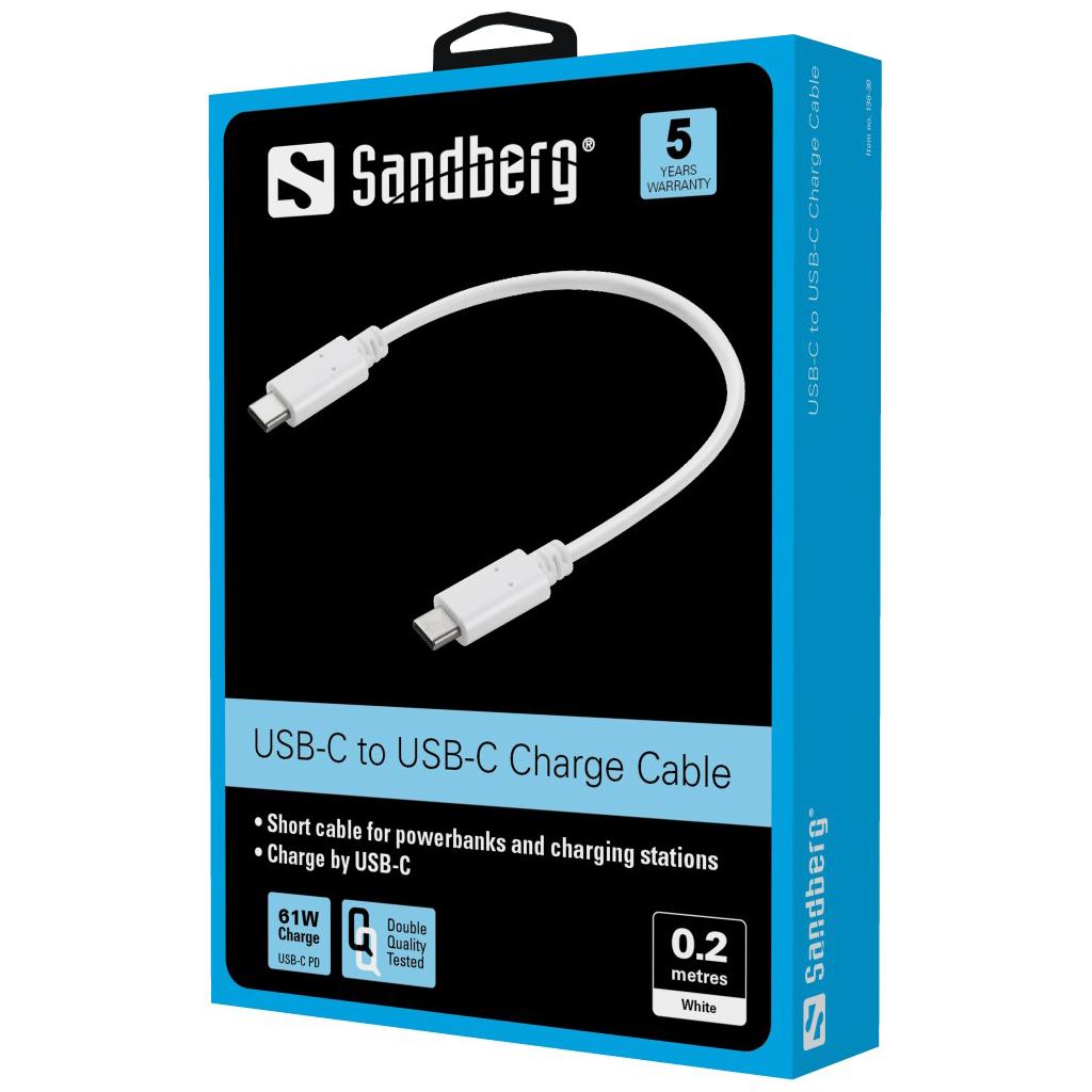 Sandberg USB-C Charge Cable 0.2m