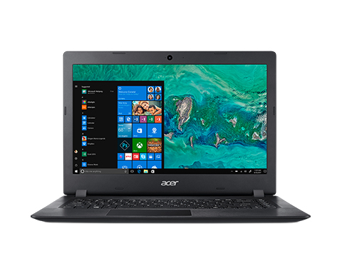 Acer Aspire 1 A114-32-C6AJ, Obsidian Black, 14 inch FHD ComfyView, Celeron N4000, 4GB DDR4, 64GB eMMC, UHD Graphics 600, No ODD, Wi-Fi 5 AC + BT 4.0, 2-cell battery, 0.3MP webcam with Microphone, Windows 10 Home in S-Mode