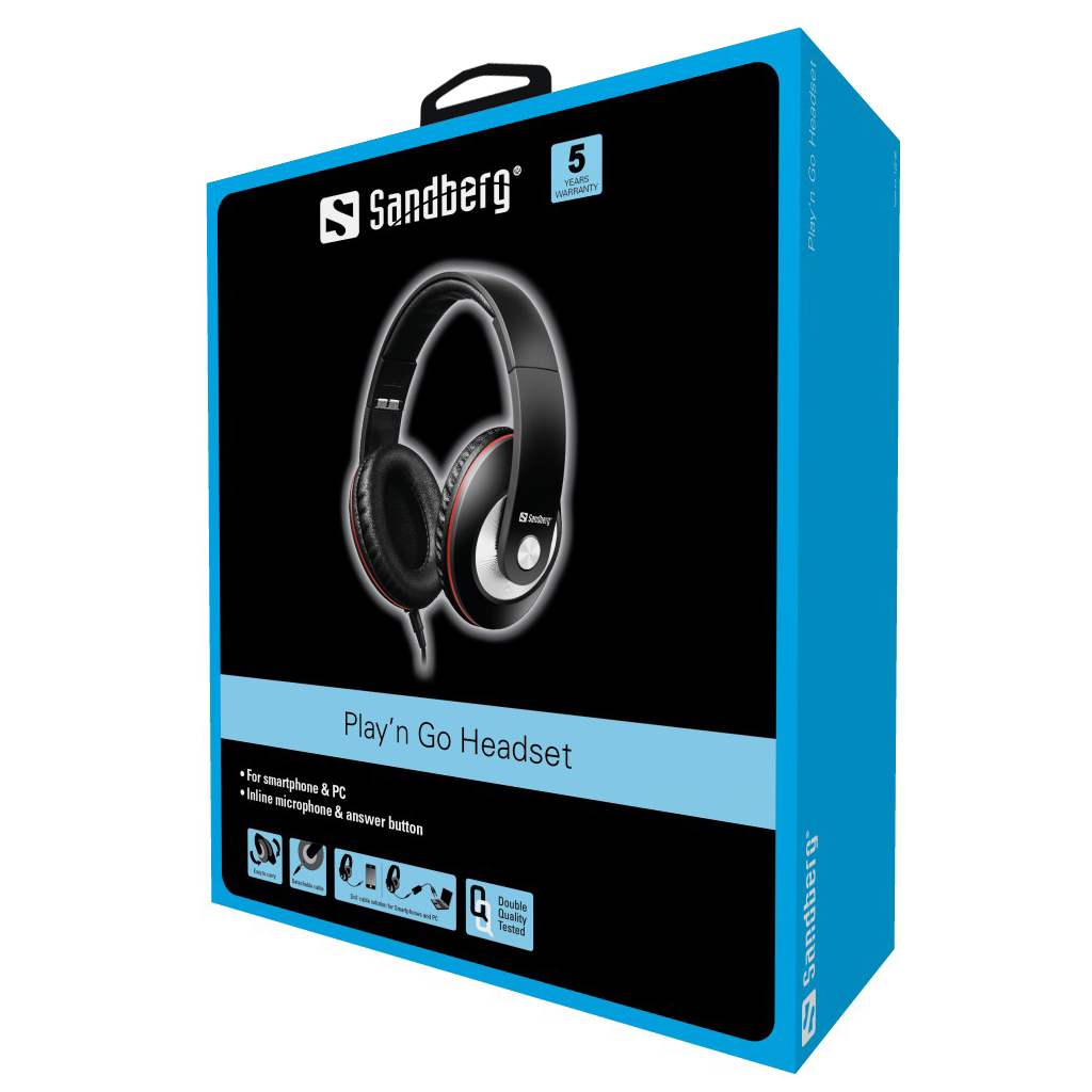 Sandberg Play n Go Headset Black