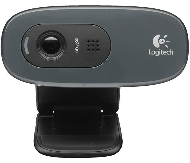 Logitech HD Webcam C270, USB, 720p 30 fps, mono microfoon, UVC ondersteund