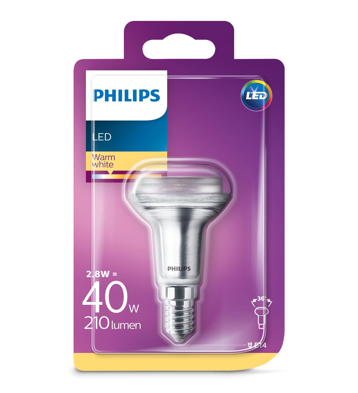 Philips Verlichting LED reflectorlamp LED CLA 40W R50 E14 WW 36D ND SRT4