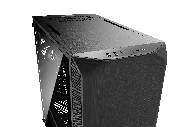 be quiet! Pure Base 500 Black Window, 450 x 231 x 443, IO-panel 2x USB 3.0, HD Audio, 2x 3,5, 5x 2,5, inc 2x 140 mm Pure Wings 2, Watercooling ready