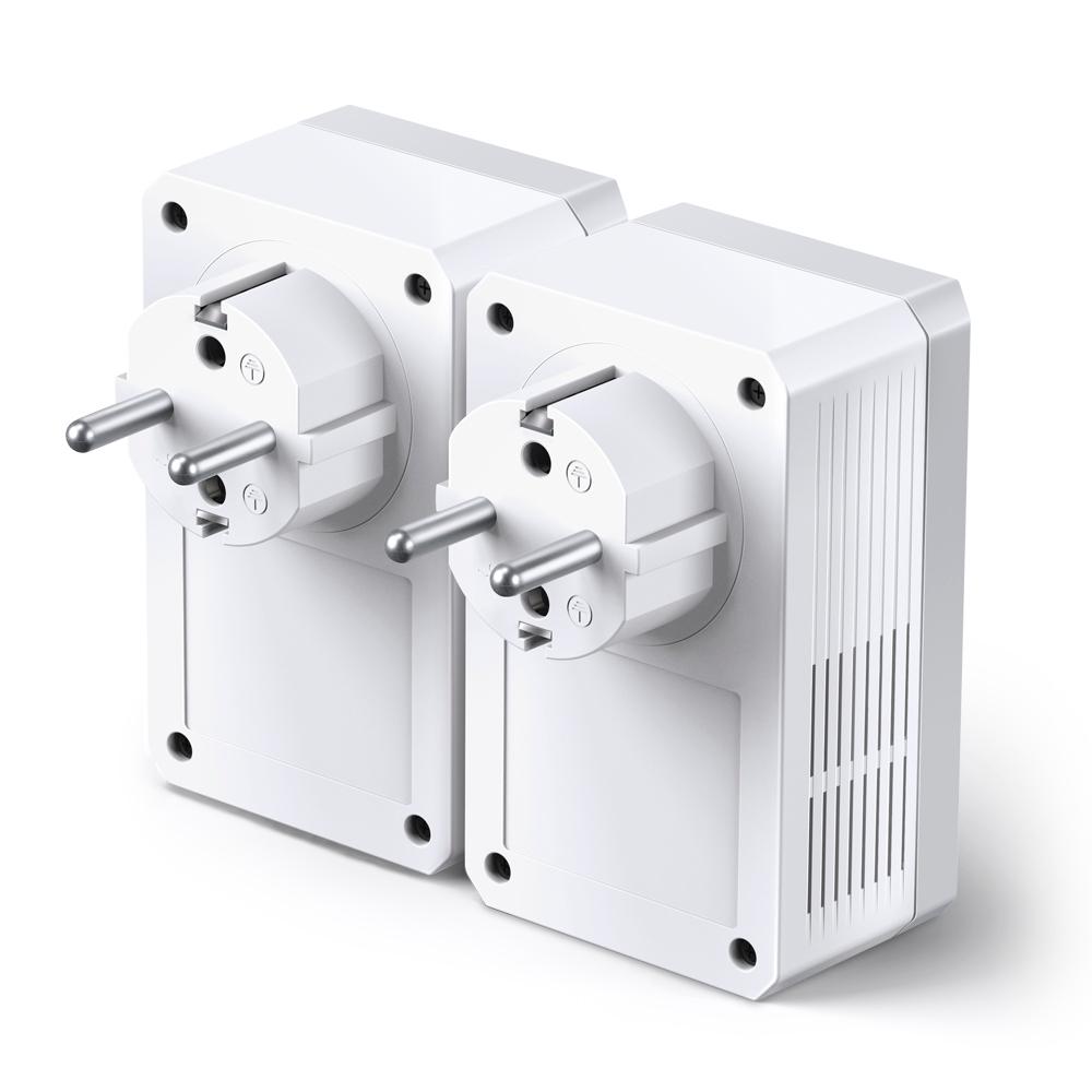 TP-Link TL-PA4010PKIT AV500+ Powerline Kit AC Pass Through 500Mbps Powerline Speed 1x Ethernet Homeplug AV Green Powerline Plug& Play Multiple HD IPTV Streams 2-pack