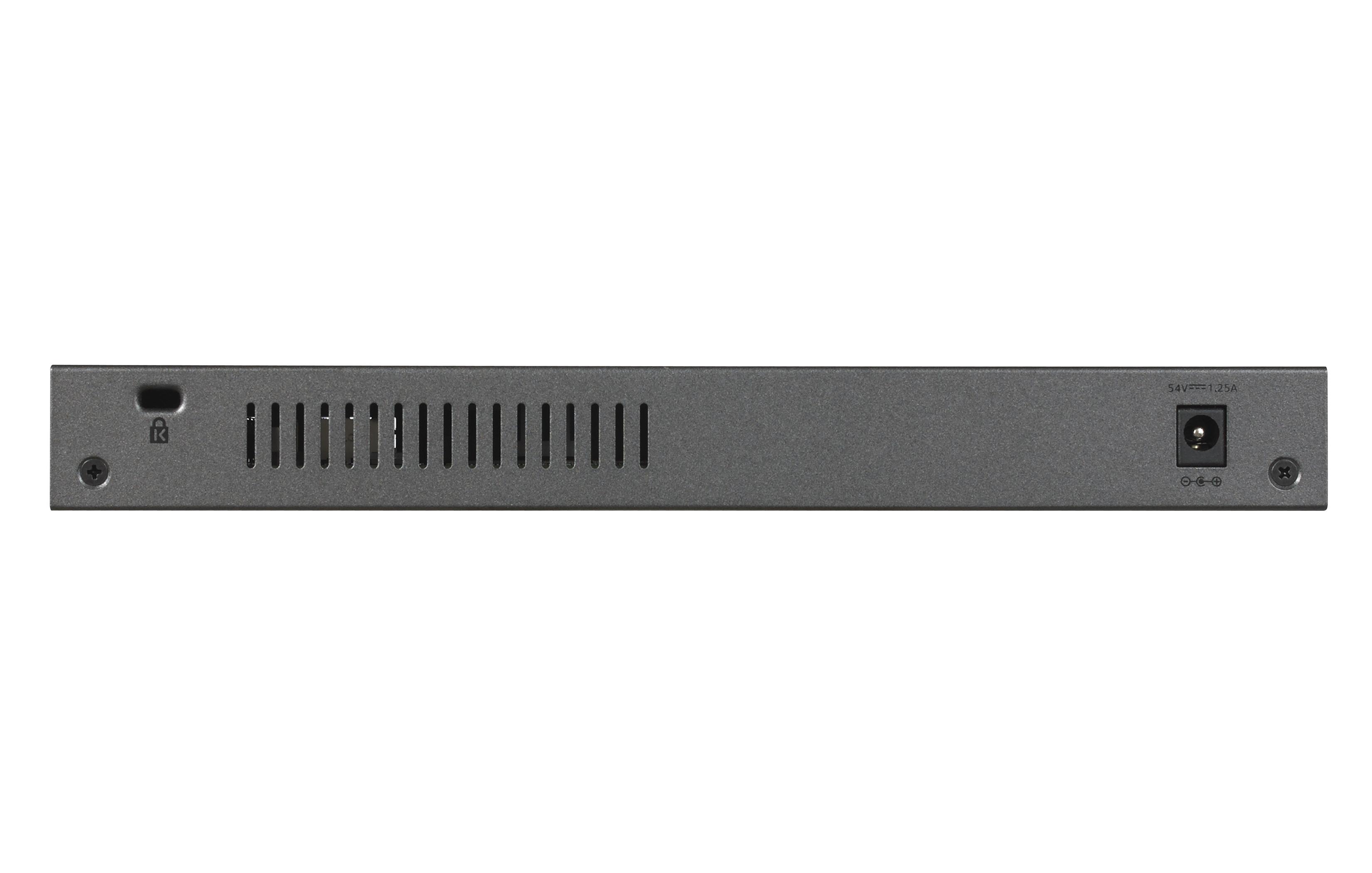 Netgear gs110tpv3 8port POE smart managed pro switch netgear pro, 8 x 10/100/1000 (poe) + 2x SFP, desktop, wandbevestiging, POE (55 w)