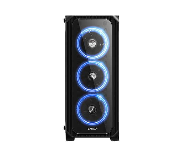 Zalman Z7 NEO, ATX Mid Tower PC Case / Pre-installed: 3 x 120mm RGB ring fan in front & / 1 x 120mm RGB ring fan in rear / Provide 7 differents colors / Support Motherboard Sync / Tempered glass at front & left side / Dimension : 420(D) x 213(W) x 46