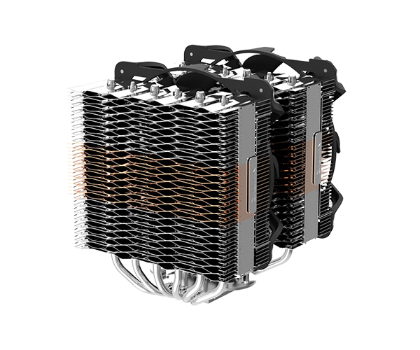 Zalman CNPS20X, High end dual tower RGB cooler / - 140mm adressable RGB fan (SF140) x 2 / - Patented corrugated fins for optimized cooling / - 6 heatpipes / - Advanced FDB bearing / - STC8 thermal compound included / - TDP 300