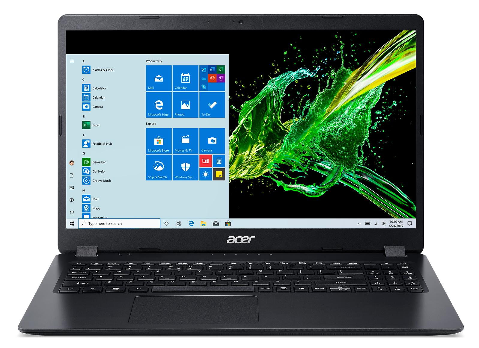 Acer A315-56-308M, 15.6i FHD ComfyView, Intel Core i3-1005G1, 4GB, 512GB PCIe NVMe SSD, Intel UHD Graphics, Wi-Fi 5 AC+ BT 4.0, Win10Home, Black, QWERTY