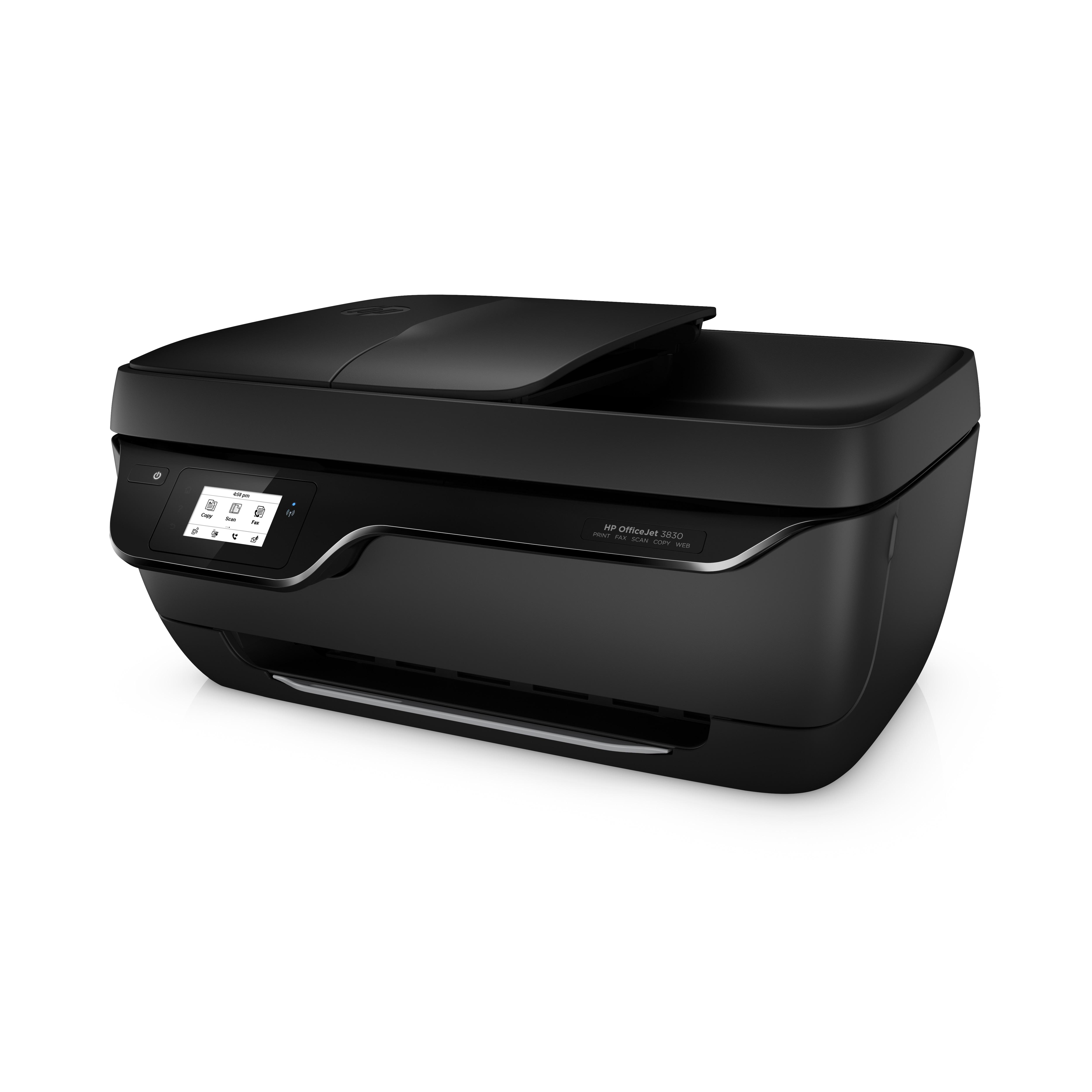 HP Officejet 3833 All-in-One, Multifunctionele A4 kleuren inkjet printer, 216 x 297 mm , maximaal 7 ppm, USB, WiFi, inkt: 302(XL)