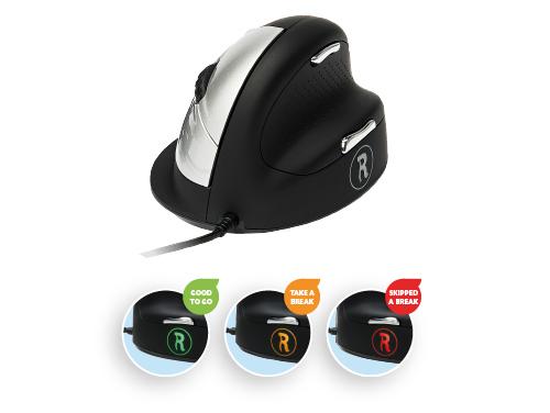 R-Go HE Break Mouse, Ergonomische muis, Pauzesoftware, Groot (> 185mm), Rechtshandig, Bedraad