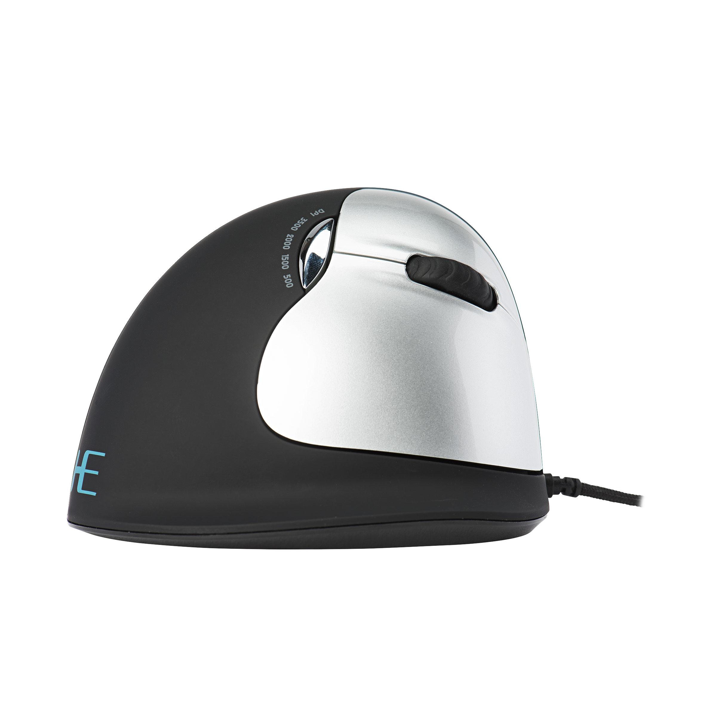 R-Go HE Mouse, Ergonomische muis, groot, rechtshandig, bedraad
