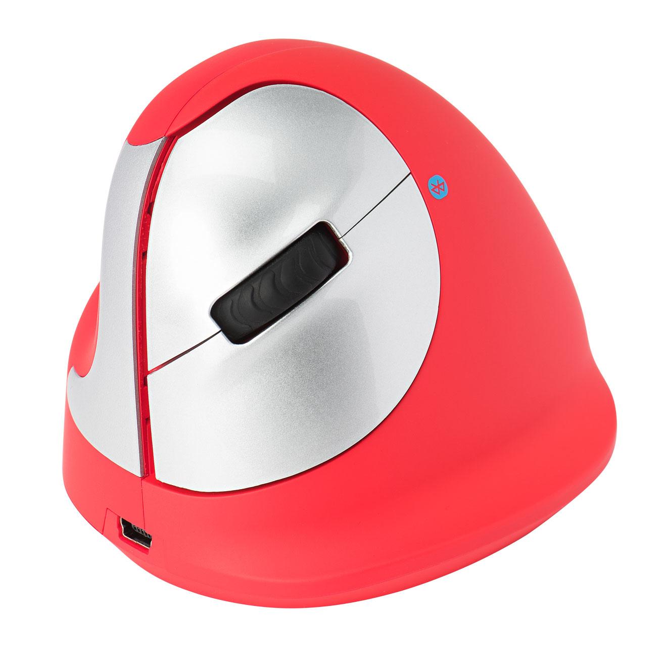 R-Go HE Sport, Ergonomische muis, Rood, Bluetooth, Medium (165-195mm), Linkshandig