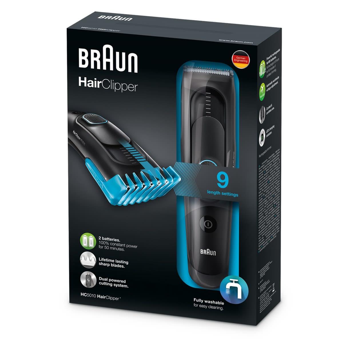 Braun Haartrimmer HC 5010 HairClipper zwart