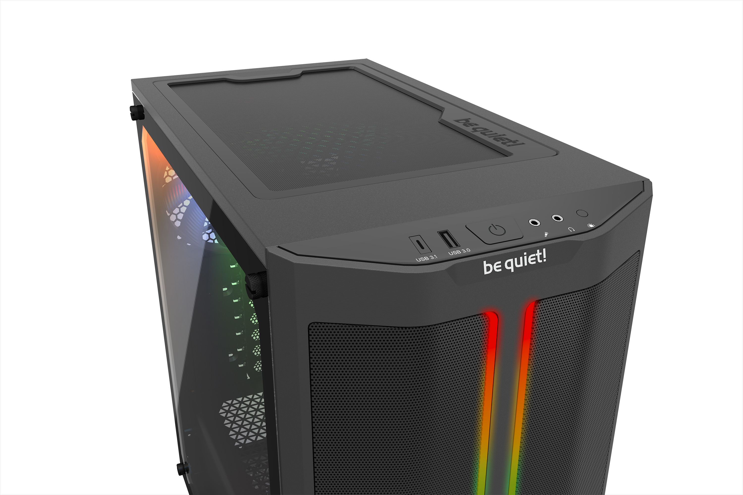 be quiet! Pure Base 500DX Black, 463 x 232 x 450, IO-panel: 1x USB Type C gen 2, 1x USB 3.0, HD Audio, 5x 2,5 inch, 2x 3,5 inch, inc 3x 140 mm Pure Wings 2, max GPU 369mm, 3 pin a-RGB