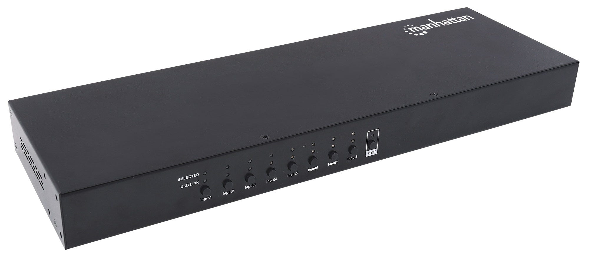 Manhattan 8-Port HDMI KVM Switch // Eight HDMI and Eight USB-B Ports, Full HD, set of eight USB cables included // Black
