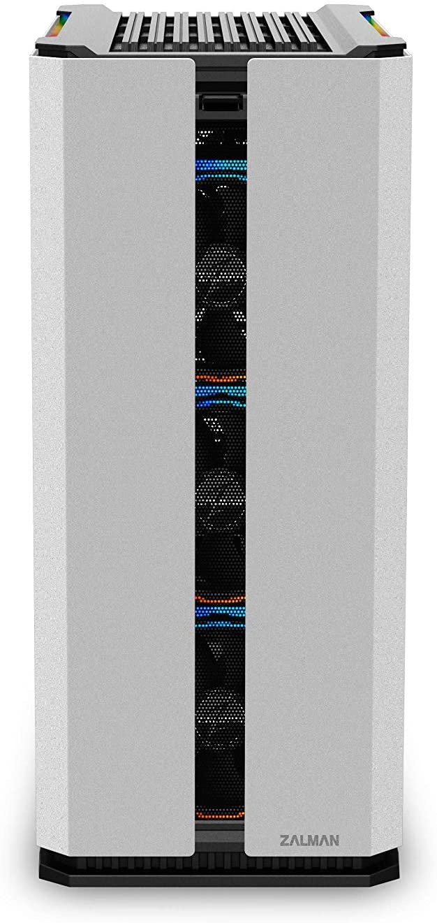 Zalman X3 WHITE, ATX Mid Tower PC Case / - Addressable 4 X 120mm RGB LED Fans / & Fan controller SYNC with M/B / - Addressable 2 X RGB LED Bars on Top / - Tempered Glass on the left side / - Sliding Dust filter on bottom, detachable filter at front