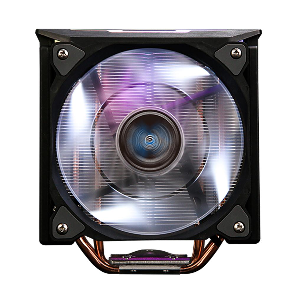 Zalman CNPS10X OPTIMAII BLACK, 120mm White LED PWM Fan / - RGB Spectrum light effects / - DTH(Direct Touch Heat-pipe) base / - Hydraulic Bearing / - 1,350 -2,100RPM(plm10%) uPWM / - 18 -28.0dBA(plm10%)