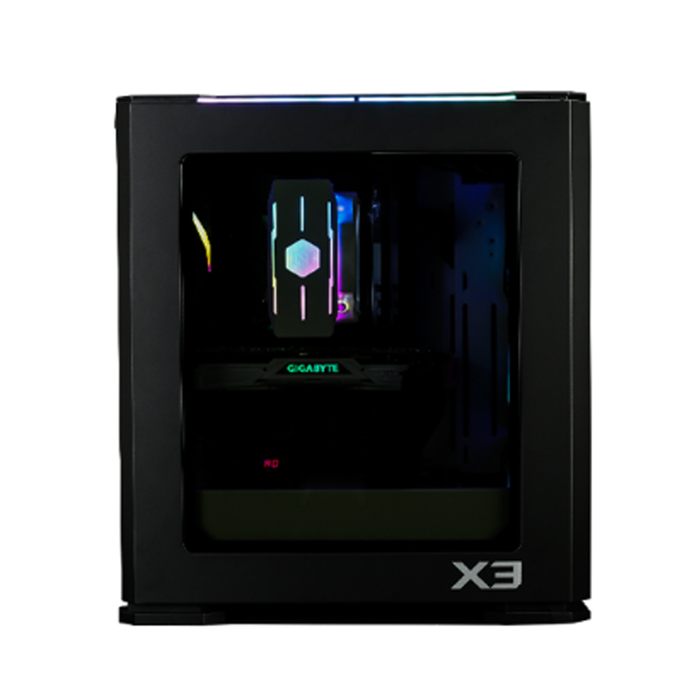 Zalman X3 BLACK, ATX Mid Tower PC Case / - Addressable 4 X 120mm RGB LED Fans / & Fan controller SYNC with M/B / - Addressable 2 X RGB LED Bars on Top / - Tempered Glass on the left side / - Sliding Dust filter on bottom, detachable filter at front