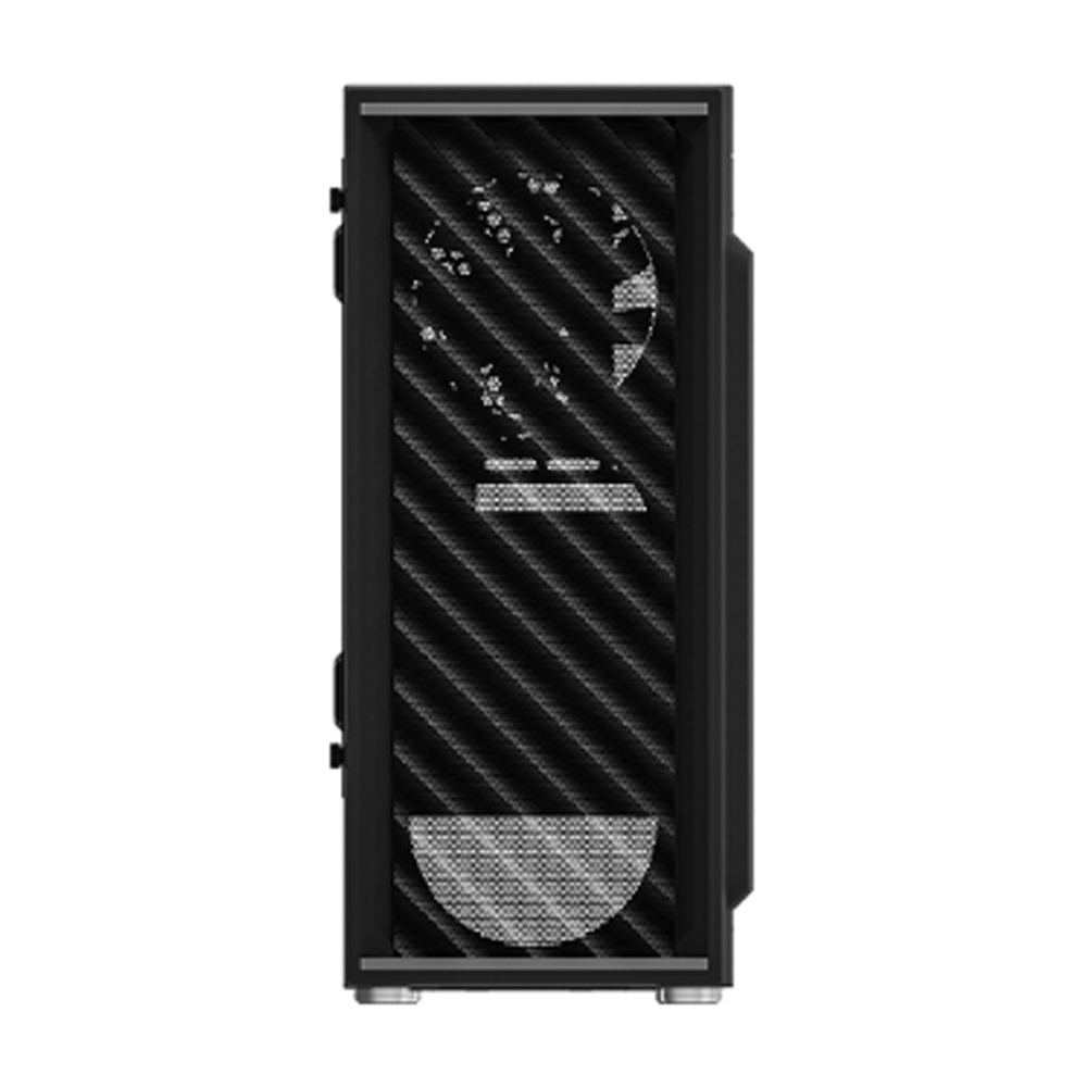 Zalman T7, ATX Mid-Tower Case / Pre-installed fan: 1x 120mm(Front), 1x 120mm(Rear) / Unique Mesh Design Optimal for Air Flow / Bottom PSU Installation with shroud / Two pre-Installed HDD/SSD Rack / Applied Hinge on Side Acrylic Panel for Easy Access