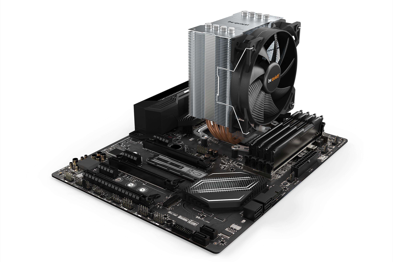 be quiet! Pure Rock 2 Silver, 150W TDP, , Intel: 1200 / 2066 / 1150 / 1151 / 1155 / 2011(-3) Square ILM, AMD: AM4 / AM3(+), 4 pin PWM, (87mm L x 121mm W x 155 mm H)