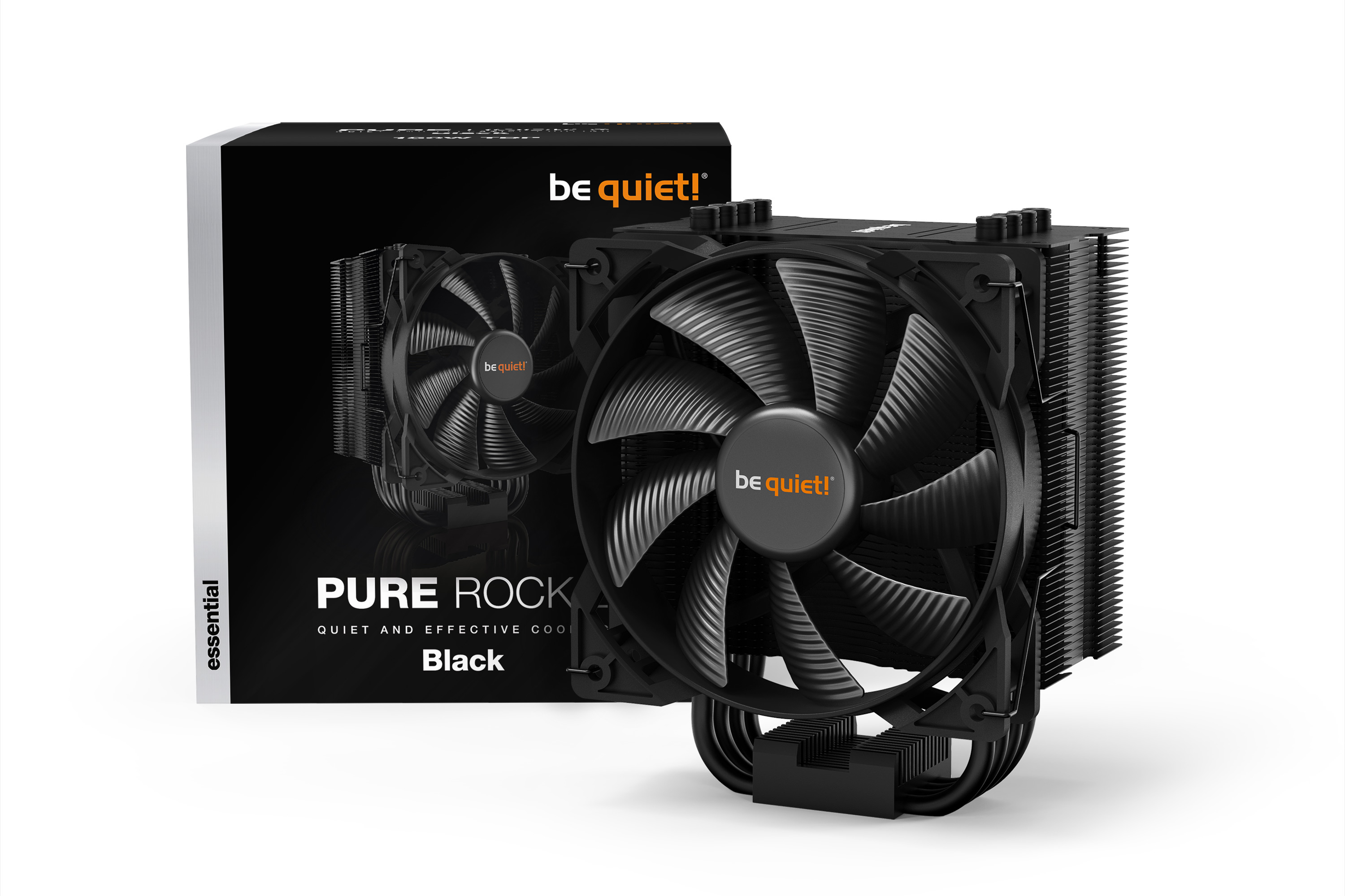 be quiet! Pure Rock 2 Black, 150W TDP, Intel: 1200 / 2066 / 1150 / 1151 / 1155 / 2011(-3) Square ILM, AMD: AM4 / AM3(+), 4 pin PWM, (87mm L x 121mm W x 155 mm H)