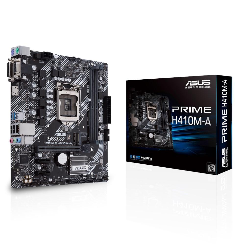 Asus PRIME H410M-A Mainboard - S1200, Intel H410, M.2/HDMI/DVI/VGA/ATX