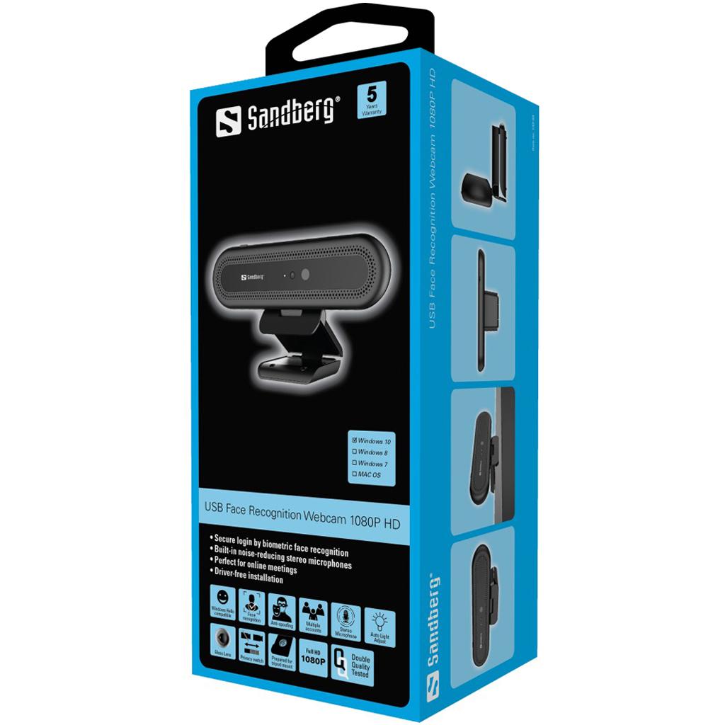Sandberg Face Recognition Webcam 1080P