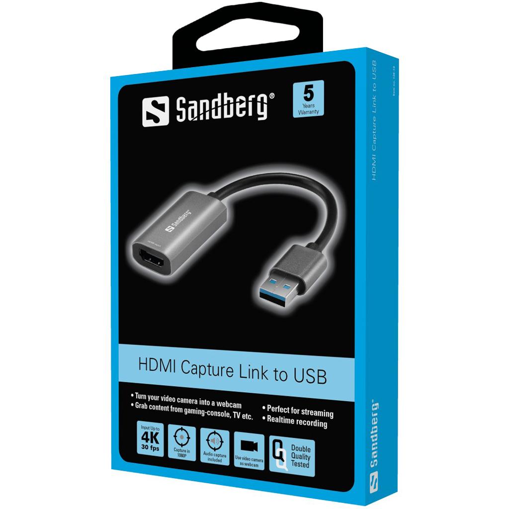 Sandberg HDMI Capture Link to USB