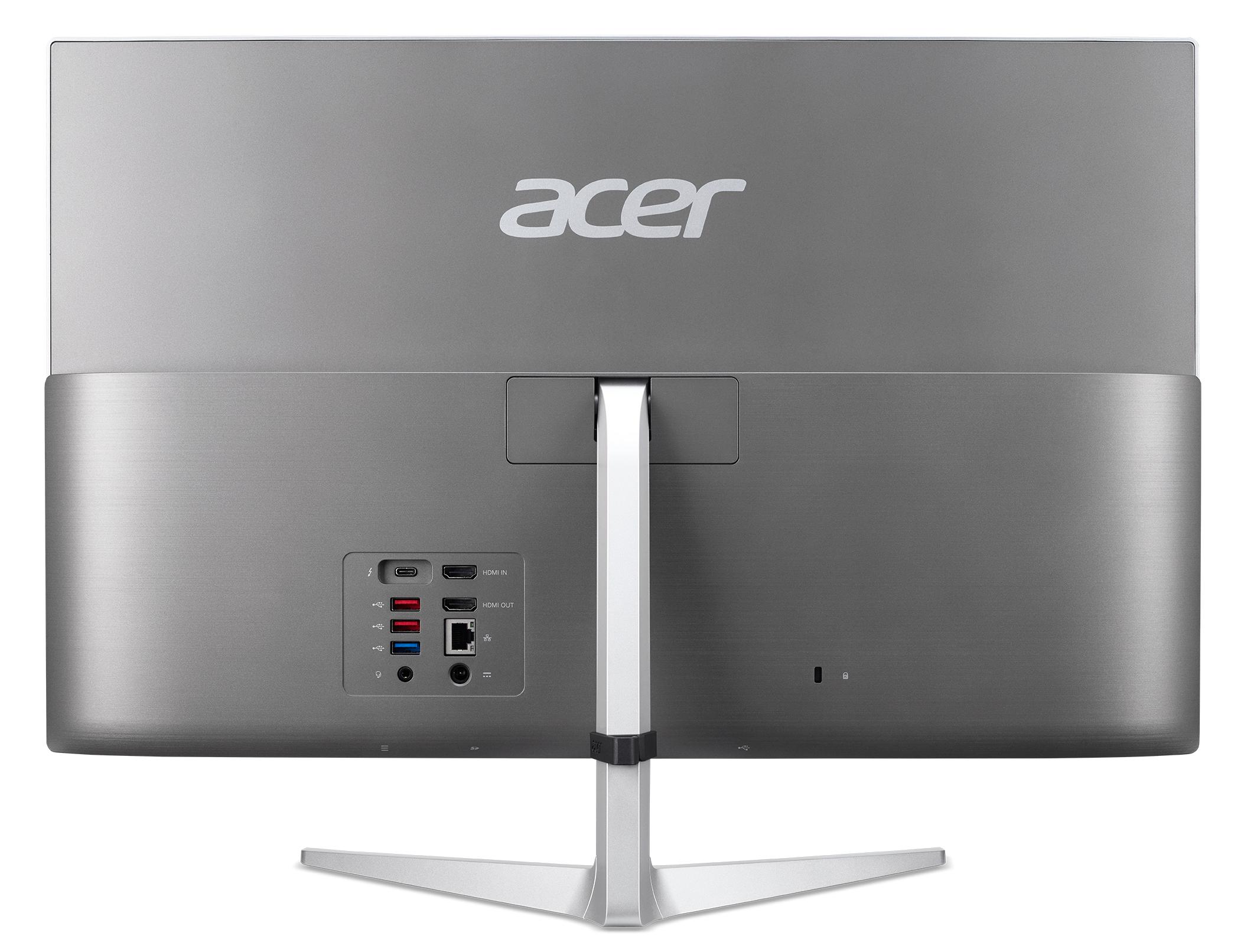 Acer Aspire C24-1650 I5520 NL, 23.8i FHD IPS, i5-1135G7, 8GB DDR4, 256GB PCIe NVMe SSD + 1TB HDD, IrisXe Graphics, QWERTY - Windows 10 Home