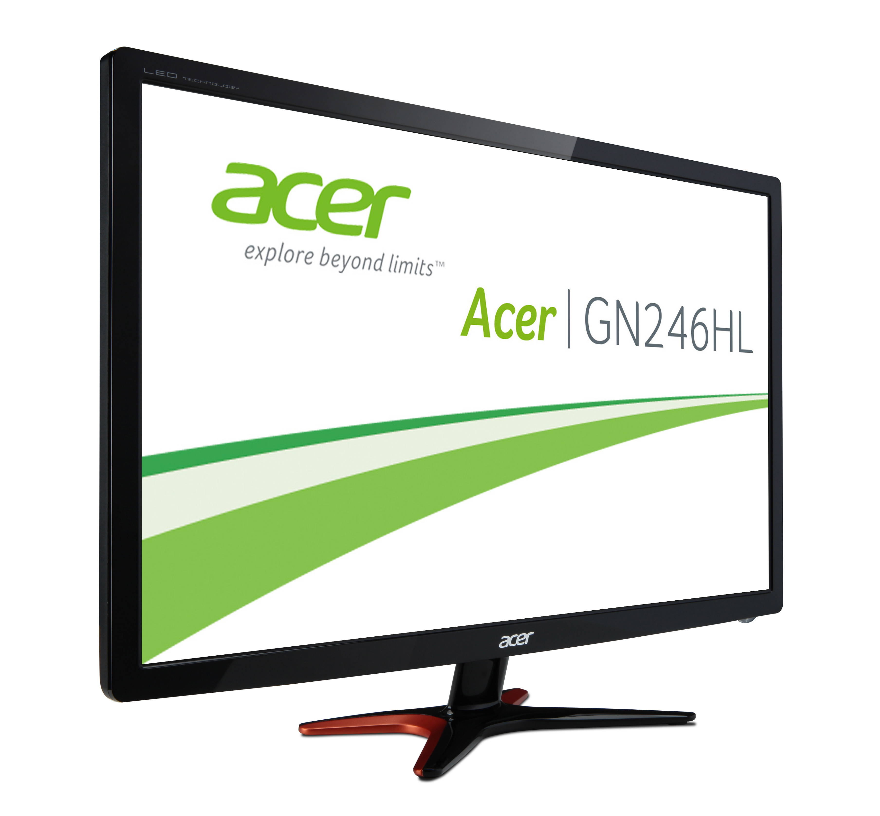 Acer Gaming Monitor GN246Hlb, 24 inch, 1920x1080, 1ms, 144Hz, TN, DVI/HDMI/VGA, VESA, Black ***