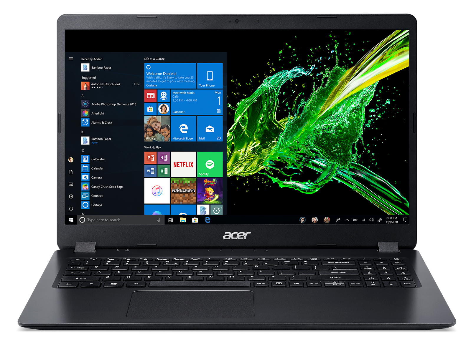 Acer Aspire 3 A315-54-391D, 15.6 FHD ComfyView LED, i3-8145U, 4GB DDR4, 512GB PCIe NVMe SSD, UHD Graphics 620, No ODD, Windows 10 Home