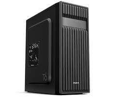 Zalman T6, ATX Mid Tower PC Case / - Pre-insalled fan: 1x 120mm(Rear) / - Air vent on front and left side for efficient cooling / - Support for 5..25 ODD in front / - Dimension : 370(D) x 200(W) x 430(H)mm