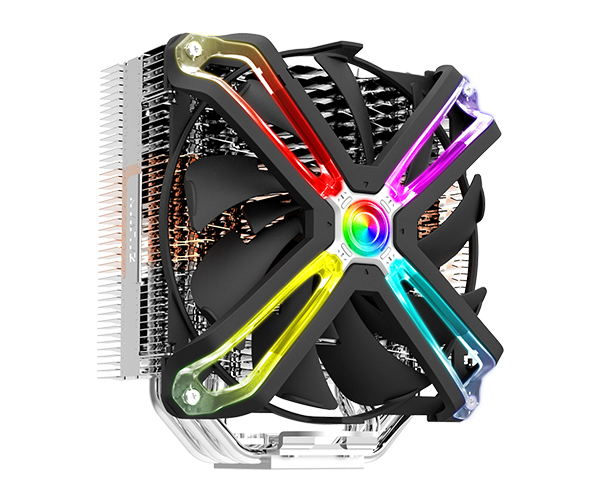 Zalman CNPS17X, High end single tower RGB cooler / - 140mm adressable RGB fan (SF140) / - Patented corrugated fins for optimized cooling / - 5 heatpipes / - Advanced FDB bearing / - STC8 thermal compound included / - TDP 200