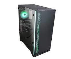 Zalman S5 Black, ATX Mid-Tower Case / - Combination of black case & RGB LED light in front / Front: 1x 120mm fan, Rear: 1x 120mm RGB fan / Tempered glass on left side / Support 240mm AIO Water Cooler (Top & Side) / AIO Water Cooler Guide f. vertical inst