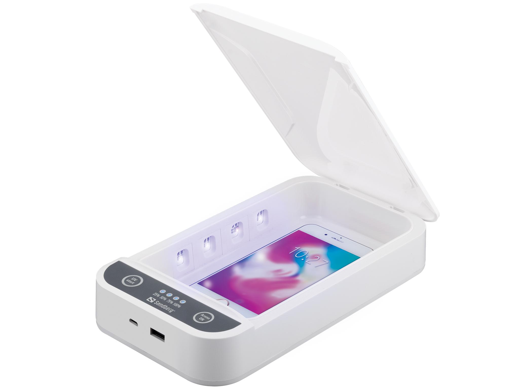 Sandberg UV Sterilizer Box 7 USB, ontsmetten met uv-straling, voeding via USB