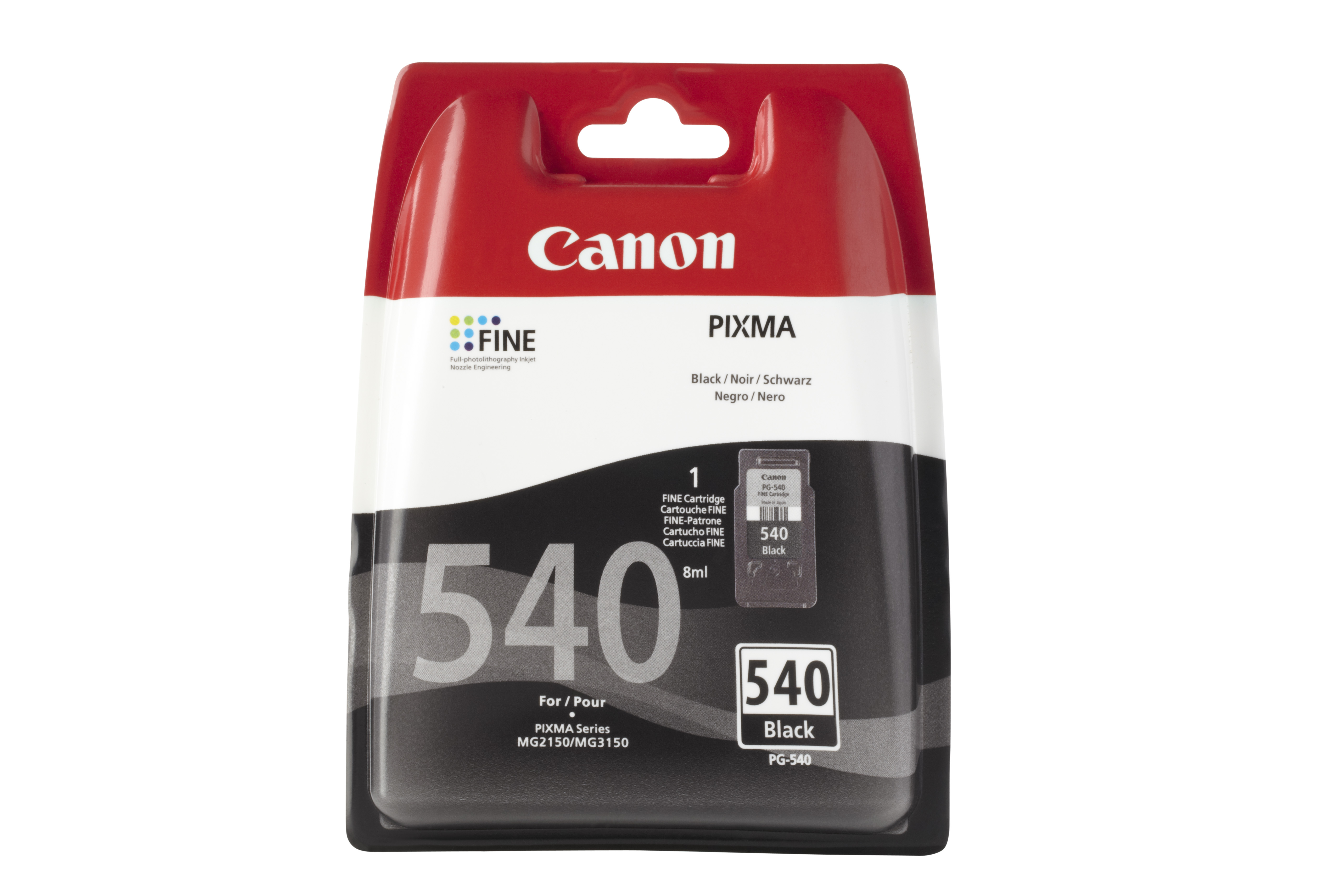 Canon pg-540 inktcartridge zwart standard capacity 1-pack blister zonder alarm