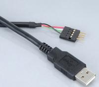 Akasa USB 2.0 Internal to External adapter, USB A - male mainboard header , 0,4m , *MBM , *USBAM